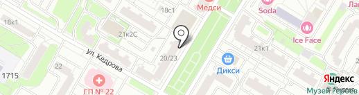 Учебно-консультационный пункт по ГО и ЧС на карте Москвы