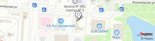 Шкура-Декор на карте Москвы