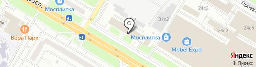 Силуэт на карте Москвы
