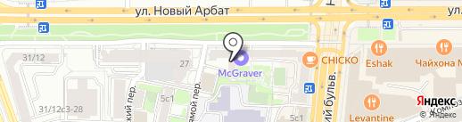 Московский дворик на карте Москвы