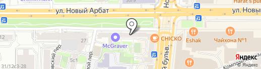 Новоарбатская на карте Москвы