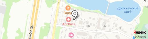 Фасоль на карте Дрожжино