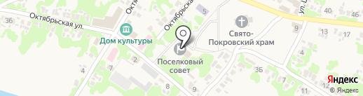 Старомихайловский поселковый совет на карте Старомихайловки