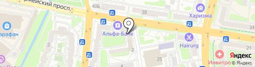 Магазин одежды на карте Тулы