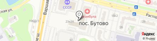 Хозяйственный магазин на карте Бутово