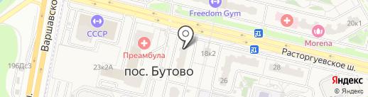 Строительный магазин на карте Бутово