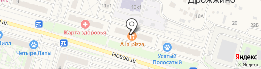 Домовитый на карте Дрожжино
