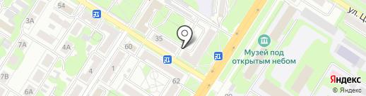 Берёзка на карте Тулы
