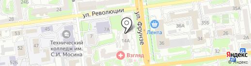 Общественная приемная депутата Тульской городской Думы Моисеева В.М. на карте Тулы