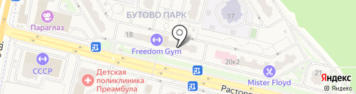Жигули на карте Бутово