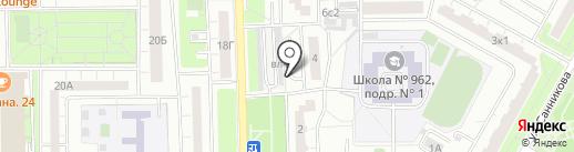 Автотехсодействие, АНО на карте Москвы