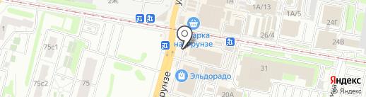 Магазин детской одежды на карте Тулы