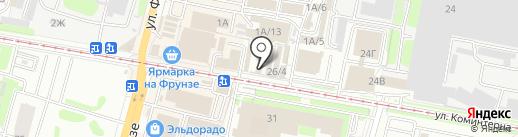 Магазин мяса и сыров на карте Тулы