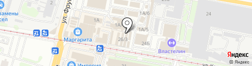 Магазин бакалейных продуктов на карте Тулы