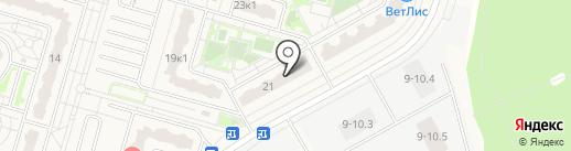 РС на карте Дрожжино