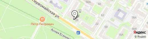 Корней Иванович на карте Тулы