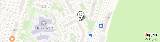 Продовольственный магазин на карте Дрожжино