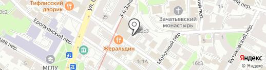 Golden Trace Space Fingers на карте Москвы