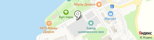 Столовая №1 на карте Новороссийска