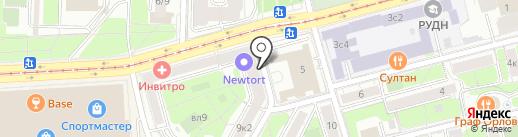 Энотера на карте Москвы