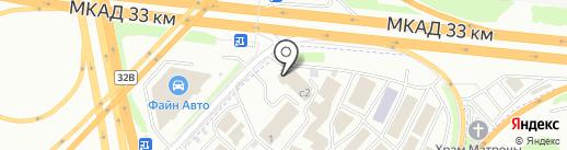 Кафе-столовая на карте Москвы