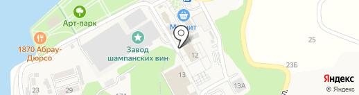 Акация на карте Новороссийска