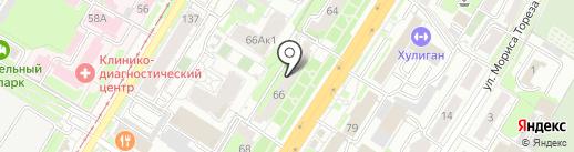 Подиум на карте Тулы