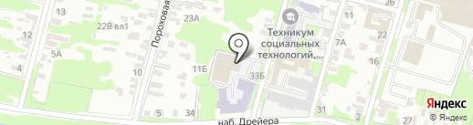 СДЮСШОР по спортивной гимнастике на карте Тулы