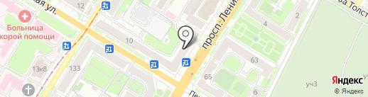 Магазин хлебобулочных и кондитерских изделий на карте Тулы