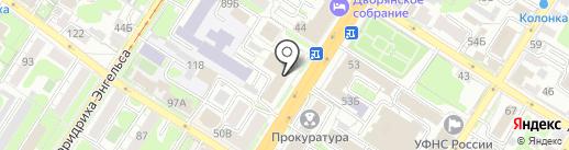 Профкурорт Тула на карте Тулы