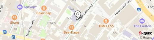 Санрайз тур на карте Москвы