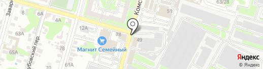 Тульский хлебокомбинат, ЗАО на карте Тулы