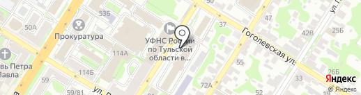 Вектор на карте Тулы