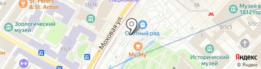 Магазин головных уборов на карте Москвы
