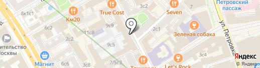 Контрамарка на карте Москвы