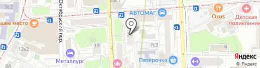 Фейгас на карте Москвы