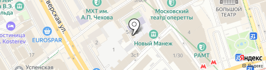 Московский союз литераторов на карте Москвы