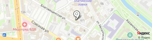 Банкомат, АБ Россия на карте Тулы