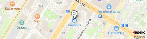 Парикмастерский магазин на карте Тулы