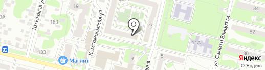 Звезда на карте Тулы