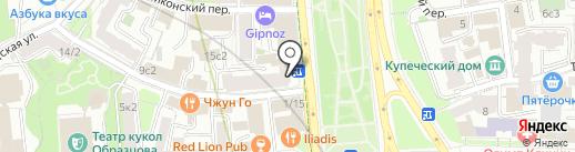 Подружки на карте Москвы
