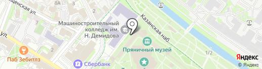 Суворовские конфеты на карте Тулы