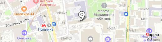 Роза Мира на карте Москвы