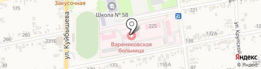 Больница на карте Варениковской
