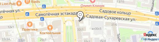 StickerRide на карте Москвы