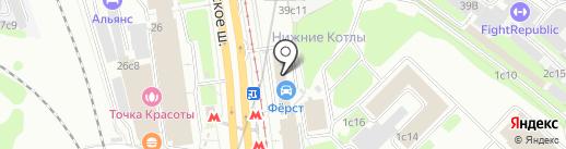 Заборград на карте Москвы