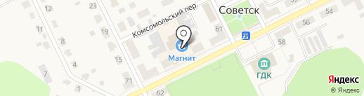 Магазин разливного пива на карте Советска