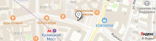 Адвокат Вакина О.Н. на карте Москвы
