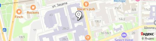 Спортивный клуб на карте Москвы