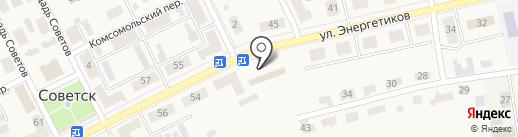 Киоск по ремонту обуви на карте Советска